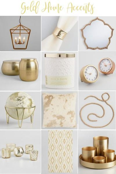 Gold home decor accents are a big trend in home decorating. Unique accents like these can pull a whole room together! #homedecor #gold #homeaccents