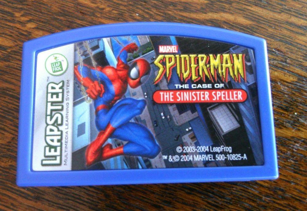 Leap Frog Leapster Spider Man Game Sinister Speller Kid's