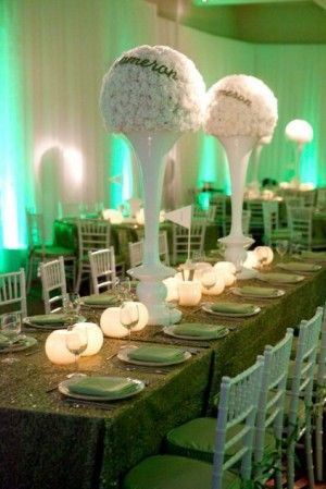 Genial Golf Themed Centerpieces