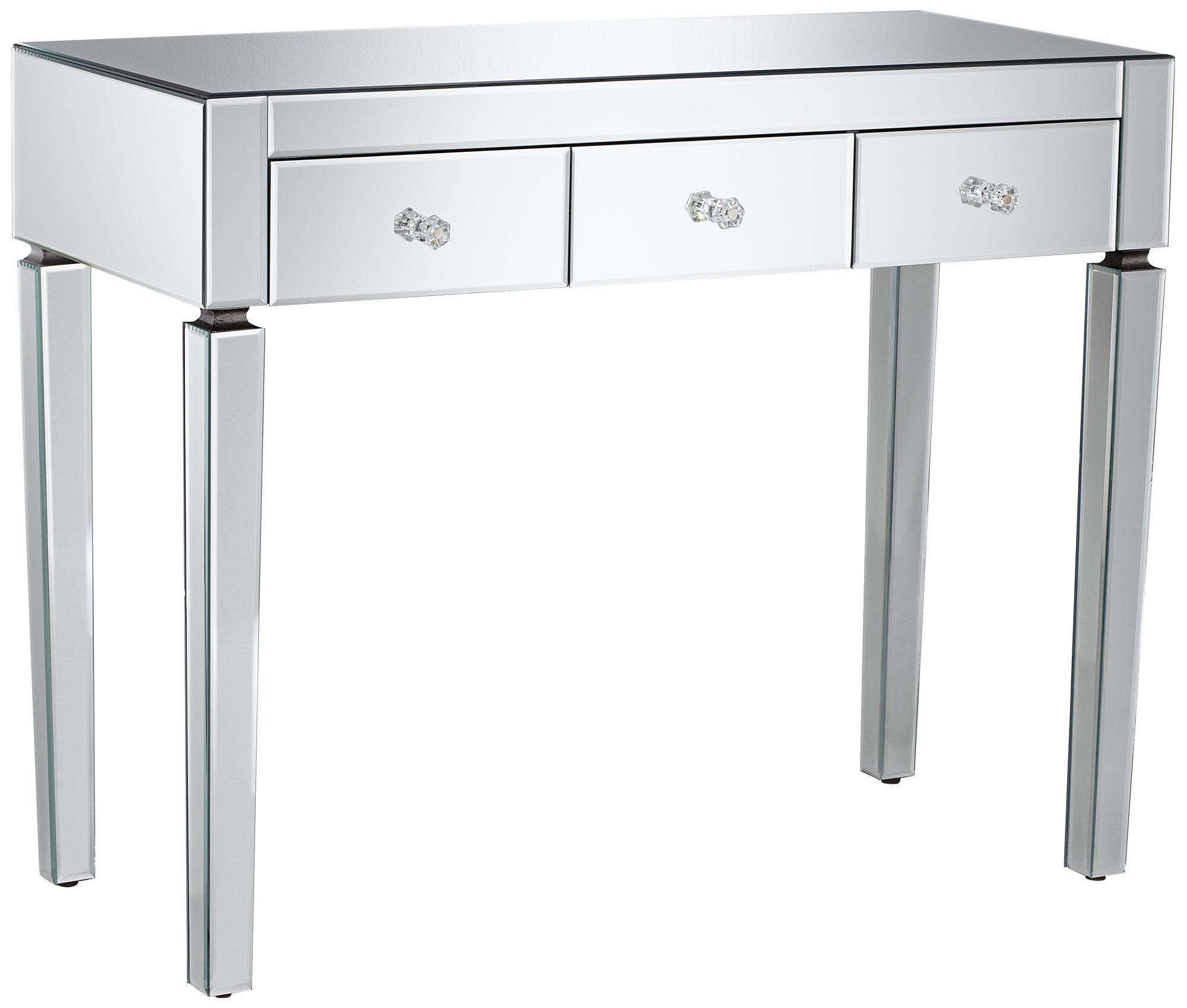 desk mirror design stylish of vanity photos ideas mirrored gallery