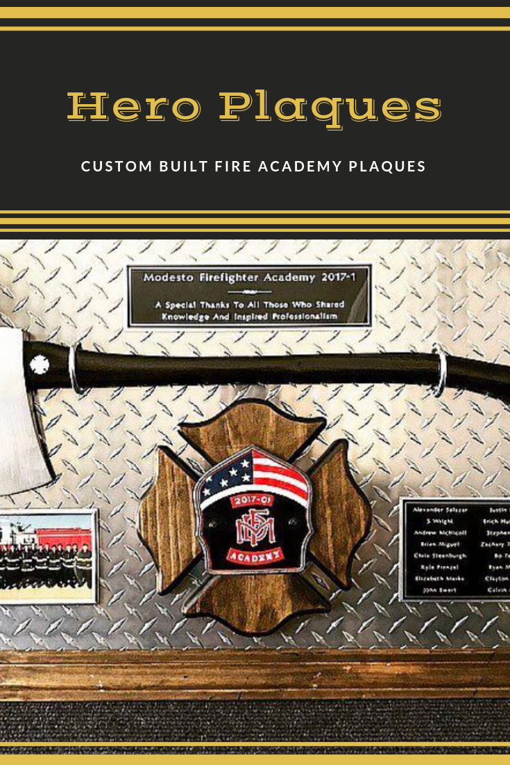 Fire Academy Graduation Plaques #fire #retirement #police