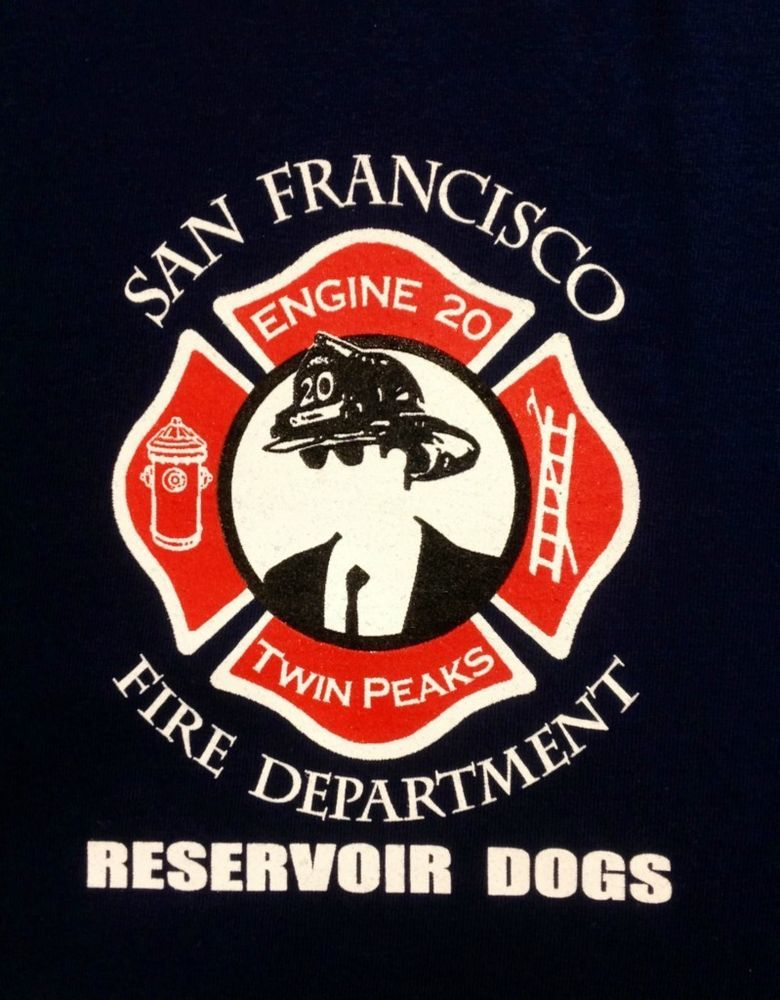 San Francisco Fire Dept T Shirt Station 20 Twin Peaks Reservoir