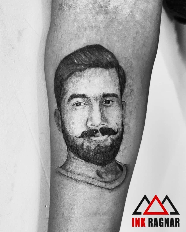 Portraits @inkragnar . #inkragnar #tattoo #tattoolife #tattoolove #portraittattoo #tattooartist #tattooart #blackandwhitetattoo #tattooworld