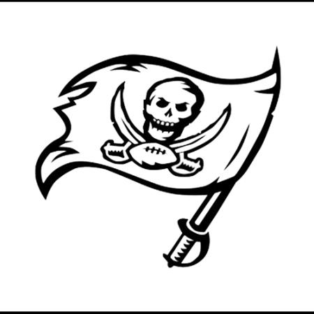 tampa bay buccaneers coloring pages | Tampa Bay Buccaneers Team Logo Coloring NFL sheet America ...