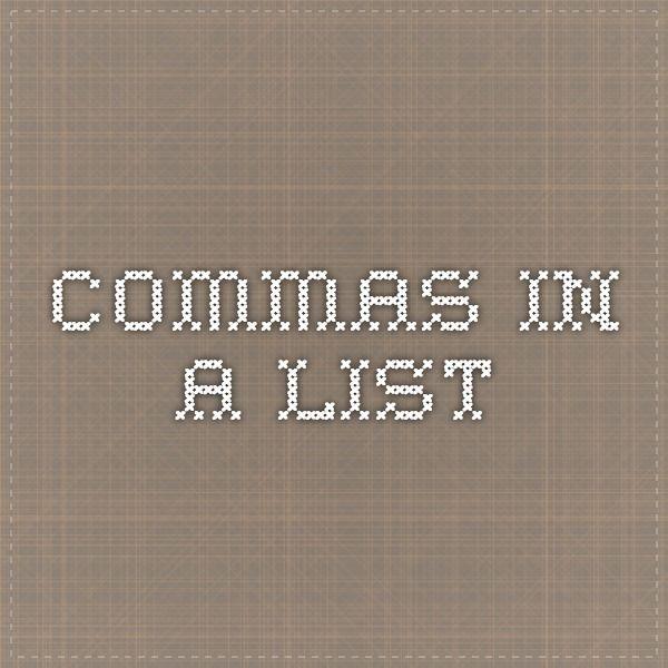 Commas in a list