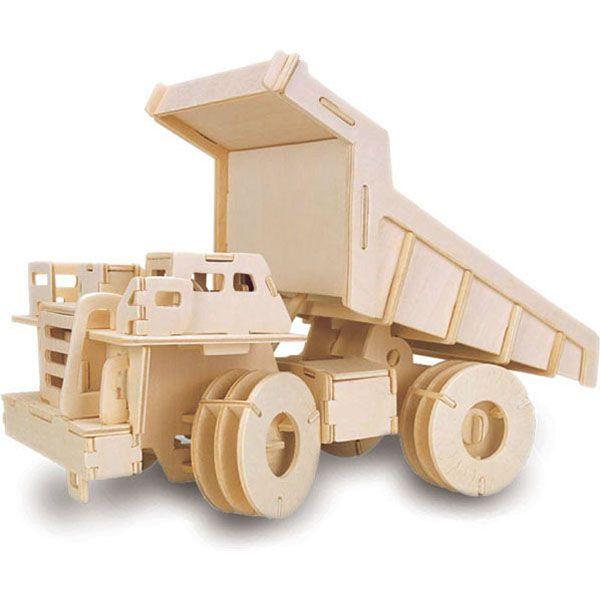 Houten bouwpakket kiepwagen - Bekijk het grootste assortiment bouwpakketten bij 100% HOUT