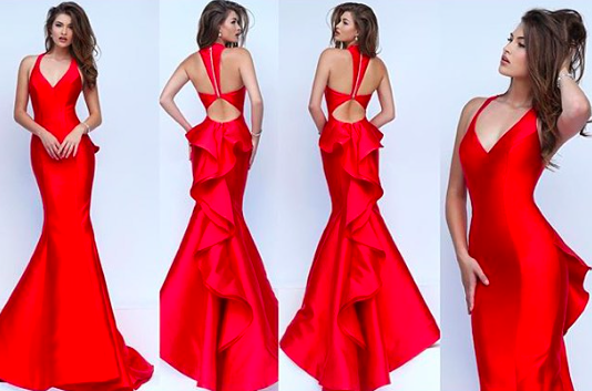 4508d603555 Sherri Hill ❤ New Spring16 Style 50195 Red pageant gown. Pageant dress. Red  form fitted gown. Stunning red dress for military ball. Red prom dress
