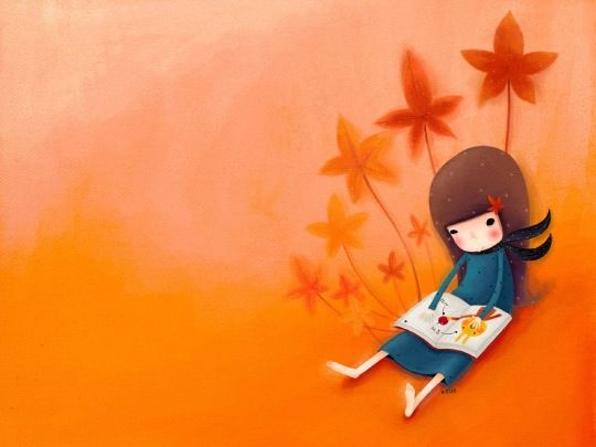 25 Beautiful Book Wallpapers For Your Tablet Computer And Smartphone Book Wallpaper Reading Art Cartoon Painting
