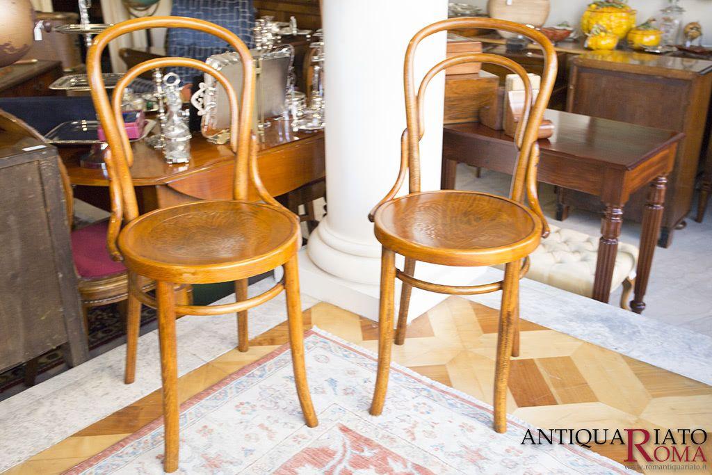 Coppia di sedie originali Thonet Vintage.   Sedie, Mobili ...