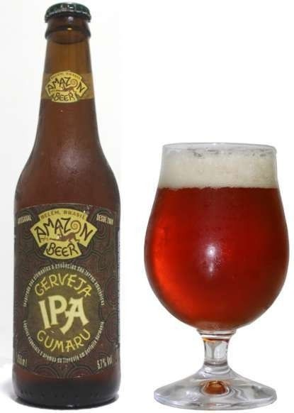 Cerveja Amazon IPA Cumaru, estilo India Pale Ale (IPA), produzida por Amazon Beer, Brasil. 5.7% ABV de álcool.
