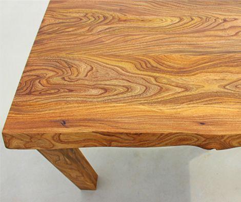 Rüster Holz die tischoberfläche aus rüster holz der ulme ist bei diesem