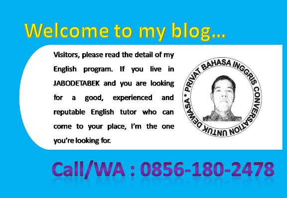PRIVAT BAHASA INGGRIS CONVERSATION UNTUK DEWASA: