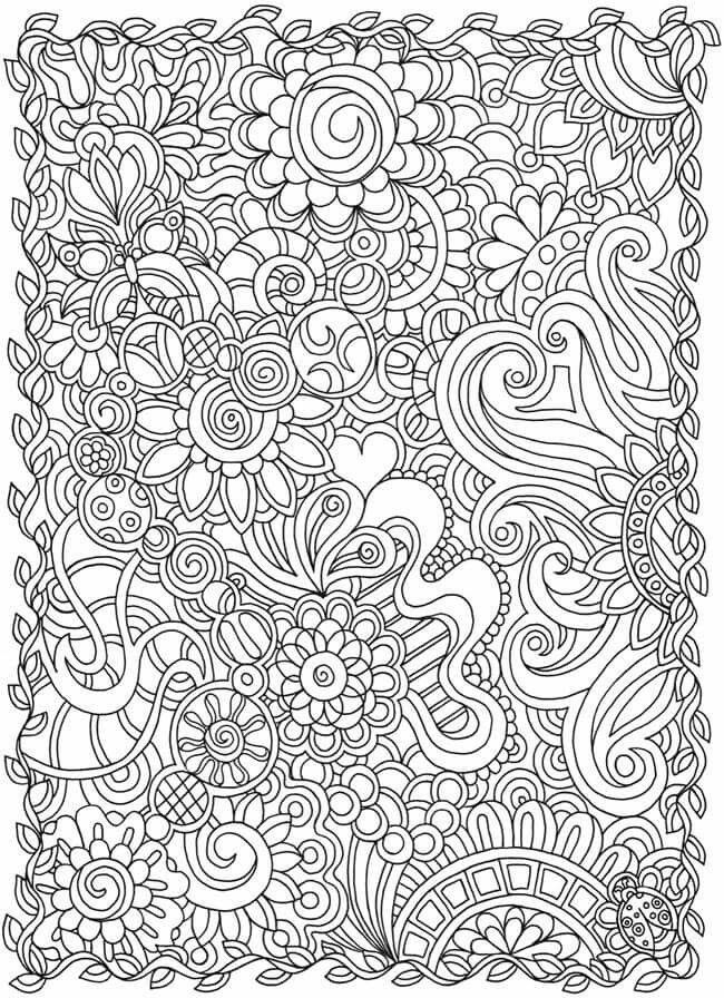 Design coloring page | Coloring pages | Pinterest | Garabatos ...
