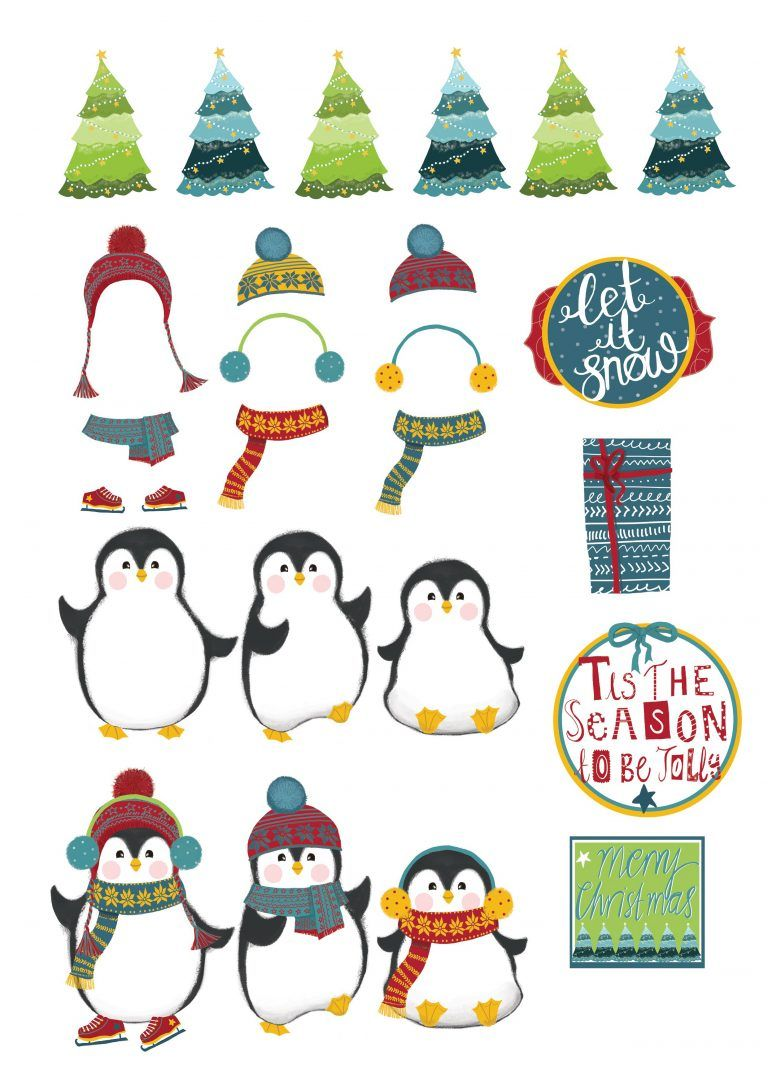 Free Christmas Penguin Cardmaking Printables Penguin Christmas Cards Christmas Cards Kids Christmas Cards Free