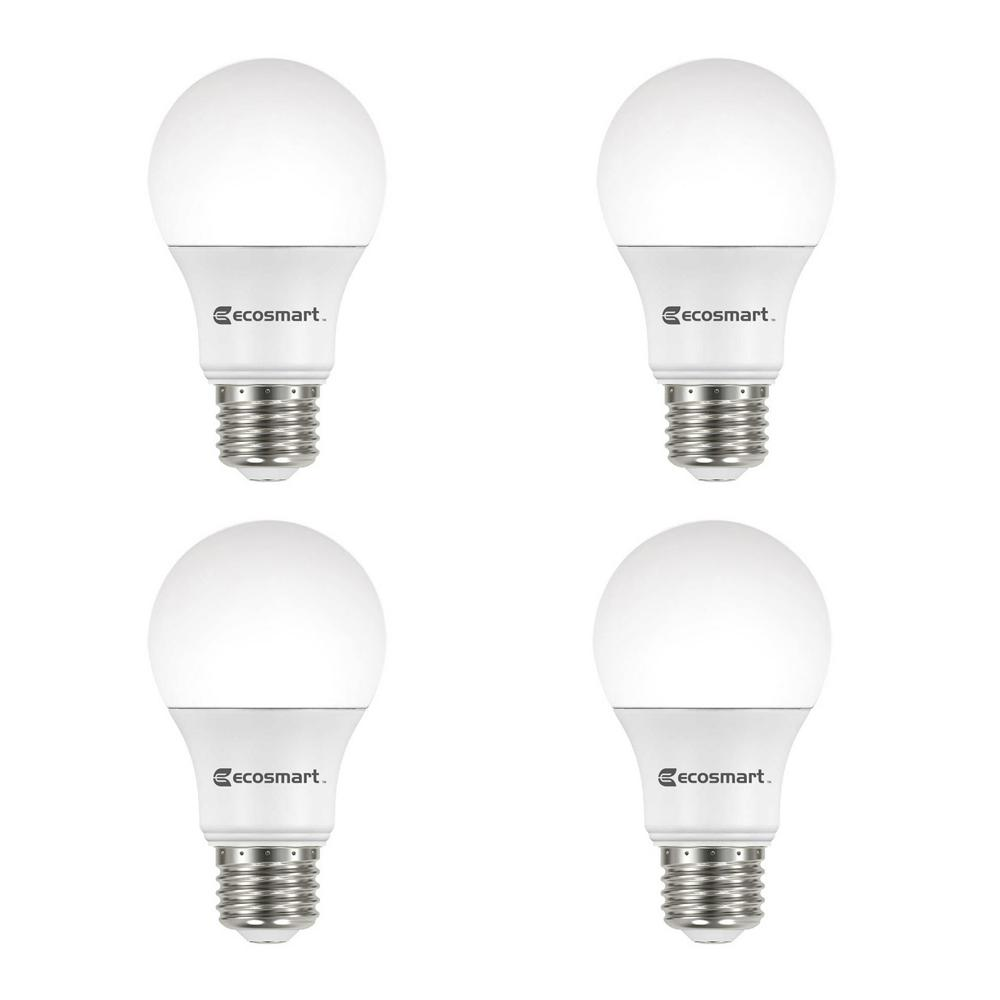 Ecosmart 40 Watt Equivalent A19 Dimmable Energy Star Led Light Bulb Bright White 16 Pack Dimmable Led Lights Light Bulb White Light Bulbs