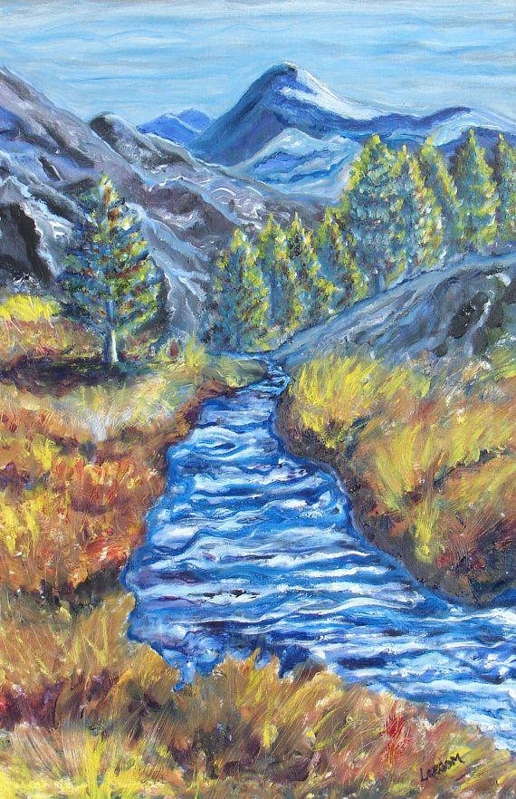 Landscape Painting Mountain River Large Oil Painting Western Landscape River And Mountains Large Oil Painting Western Landscape Painting