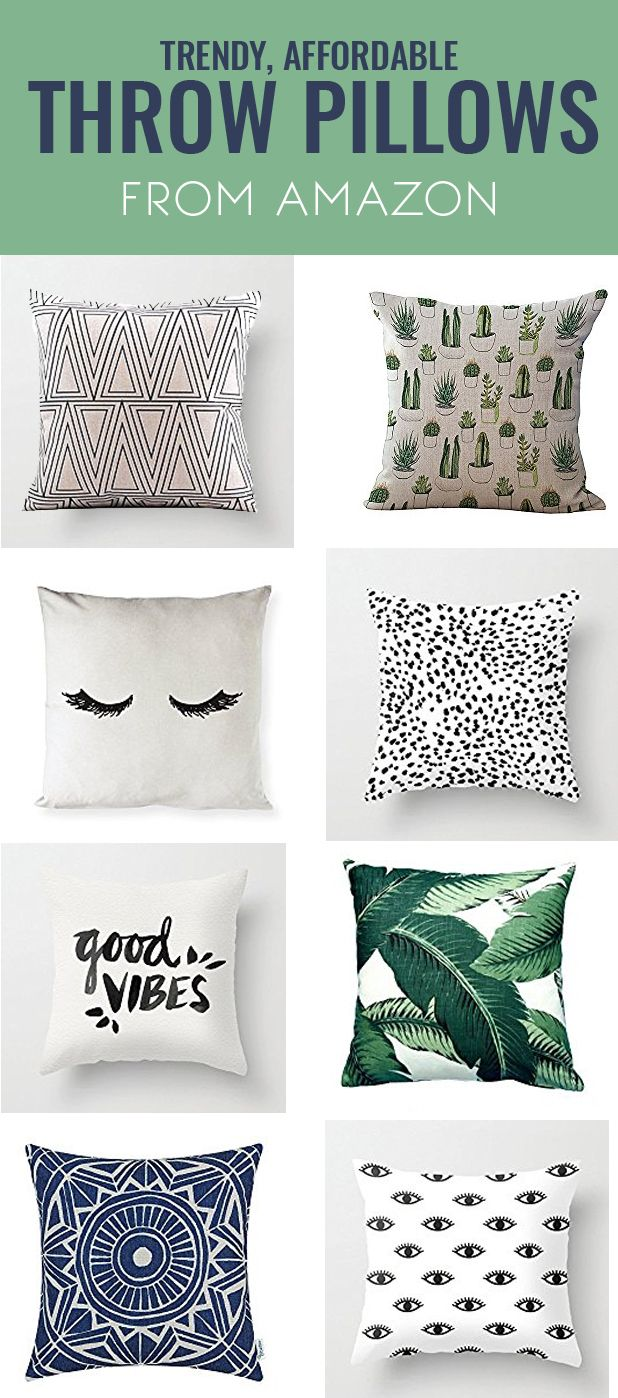 Affordable Throw Pillows with Amazon: Decor Crush Series #amazonhomedecor