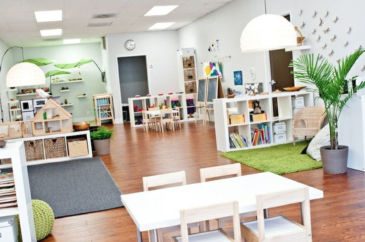 This is a reggio emilia inspired classroom that provides for Raumgestaltung reggio