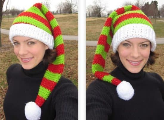 Crochet Christmas Hats The Cutest Collection Of Ideas Elf Slippers