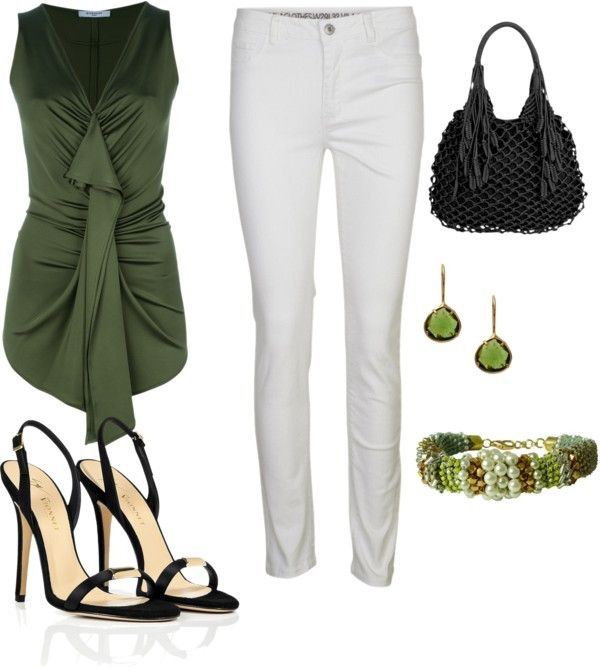 """Green"" by adrianabenigno on Polyvore"