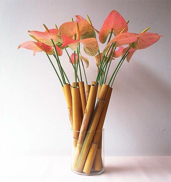 Wunderschones Modell Von Vase Aus Bambus Flower Arrangements
