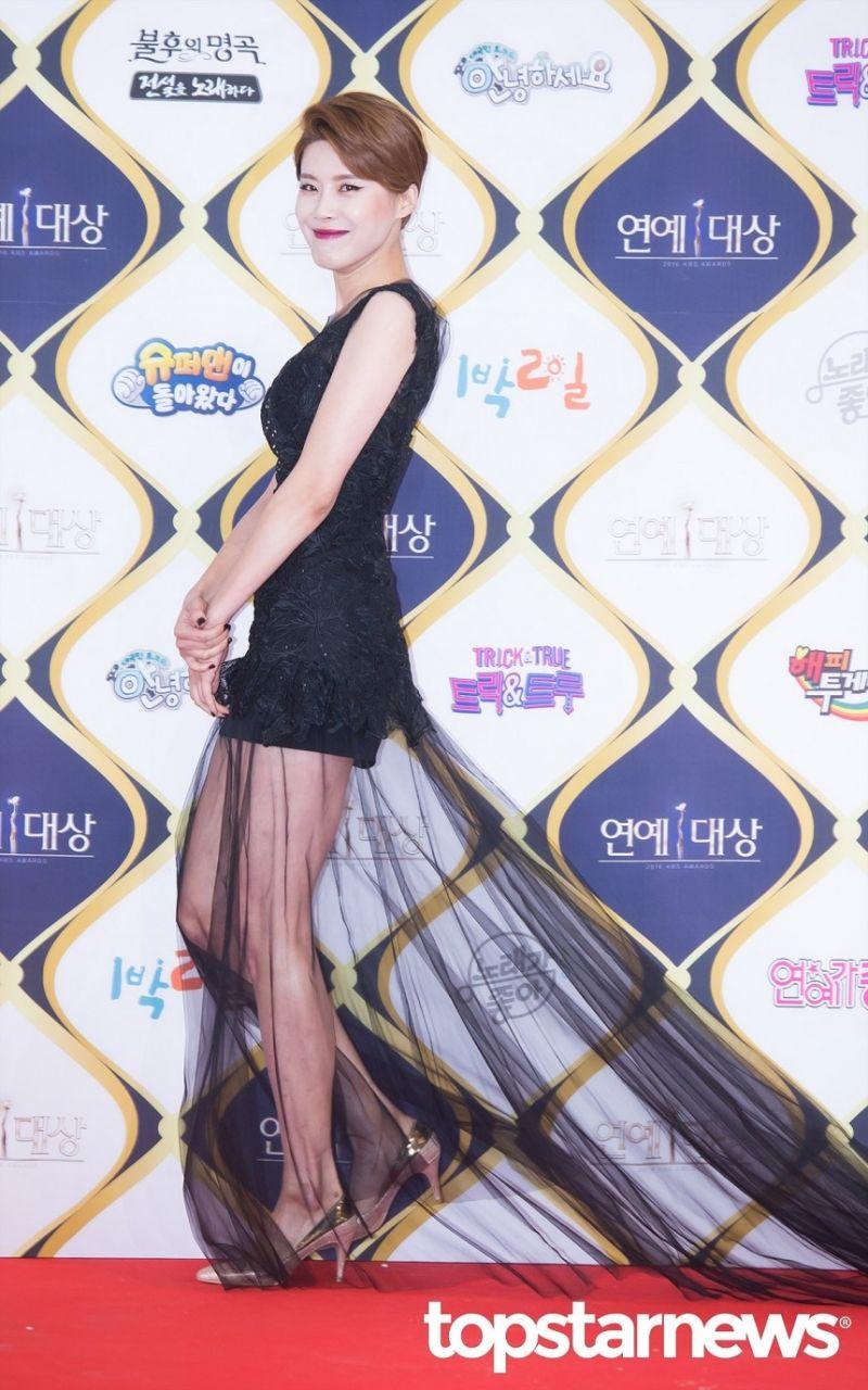 [HD포토] 장도연 시선강탈 시스루 드레스  #2016KBS연예대상 #장도연