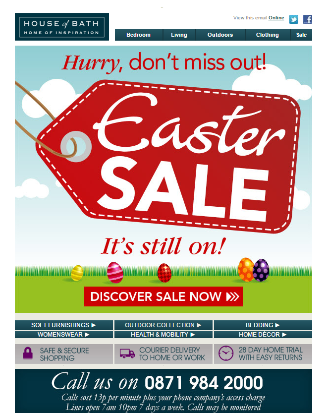 Prime Easter Sale Email From House Of Bath Emailmarketing Email Complete Home Design Collection Epsylindsey Bellcom
