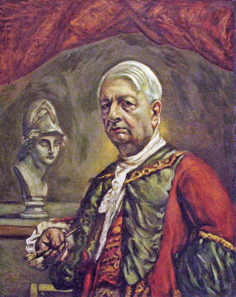Giorgio de Chirico Self-portrait with head of Minerva -  Rome, Galleria Nazionale d'Arte Moderna GNAM