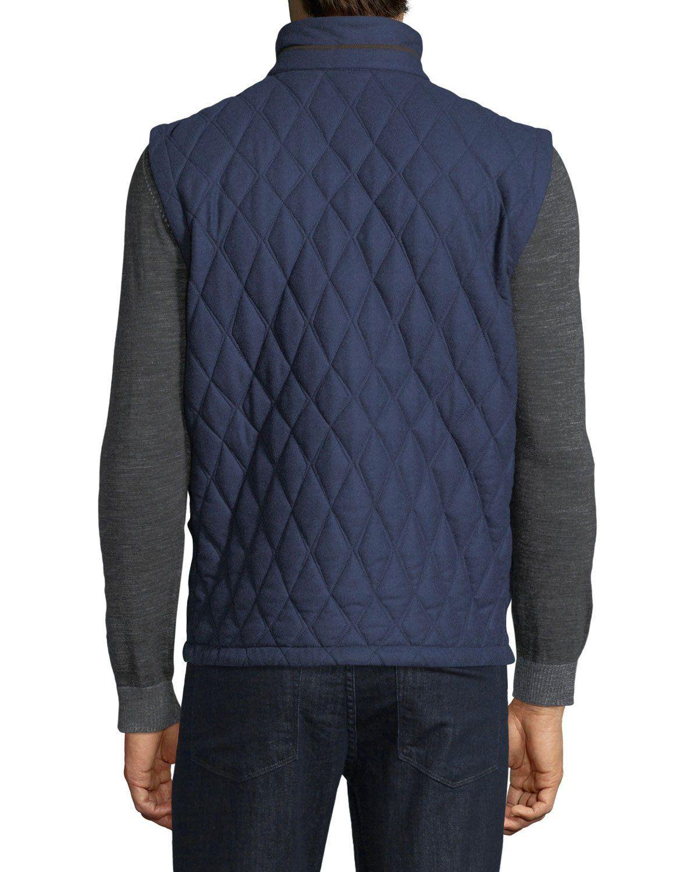4a68b083 Ermenegildo Zegna Quilted Wool-Silk-Cashmere Vest | Products