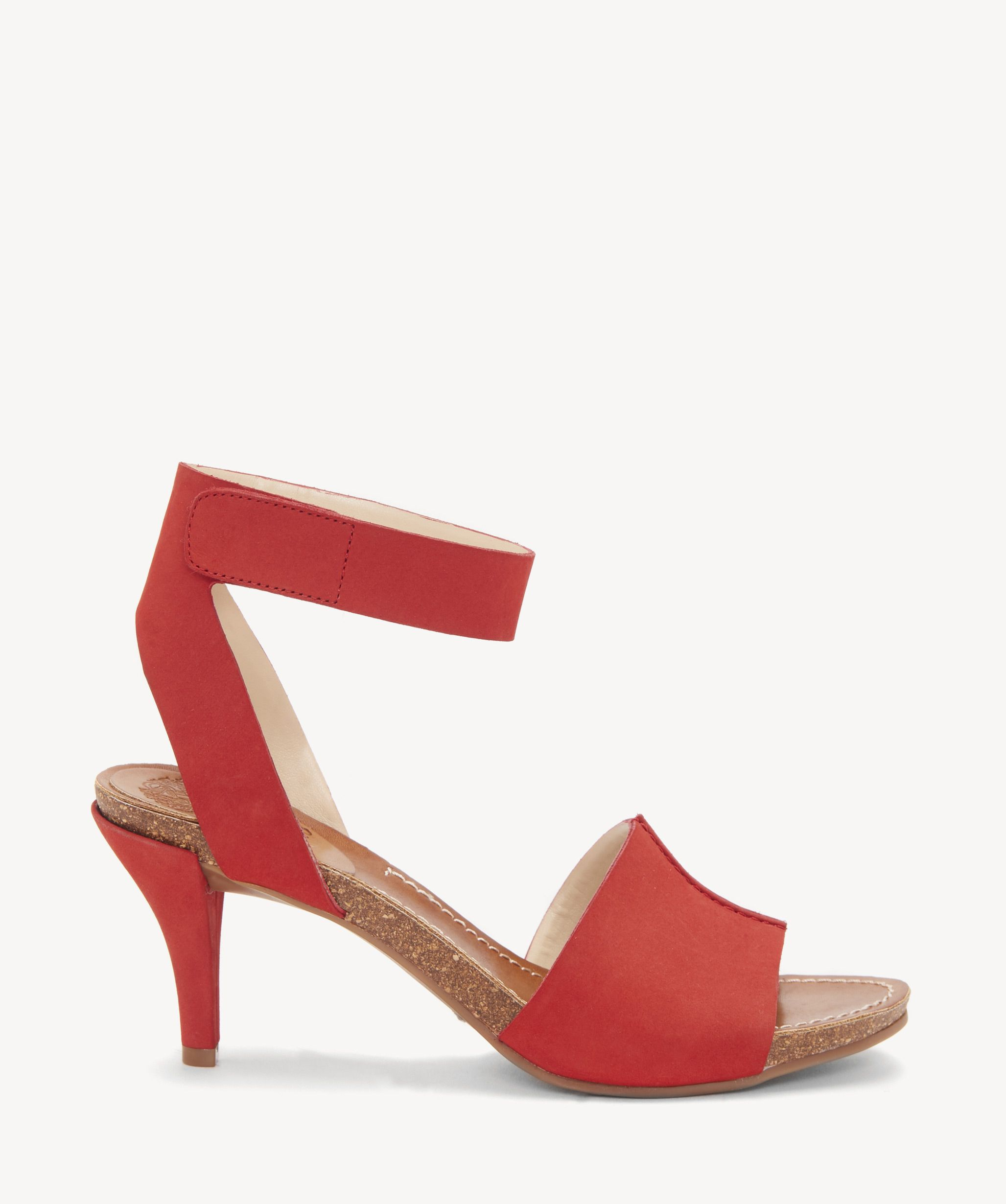 06a857ef48e Vince Camuto Women s Odela Heeled Sandals In Color  Tomatoe Tang