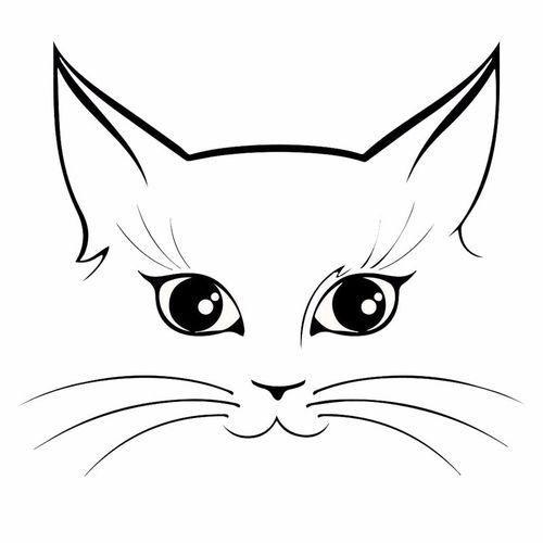 Cat Face Removable Wall Vinyl Decal Decorative Accessories Cat Outline Cat Art Cat Silhouette