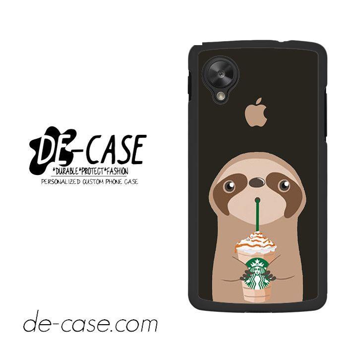 I Love Starbucks Sloth For Google Nexus 5 Case Phone Case Gift Present YO
