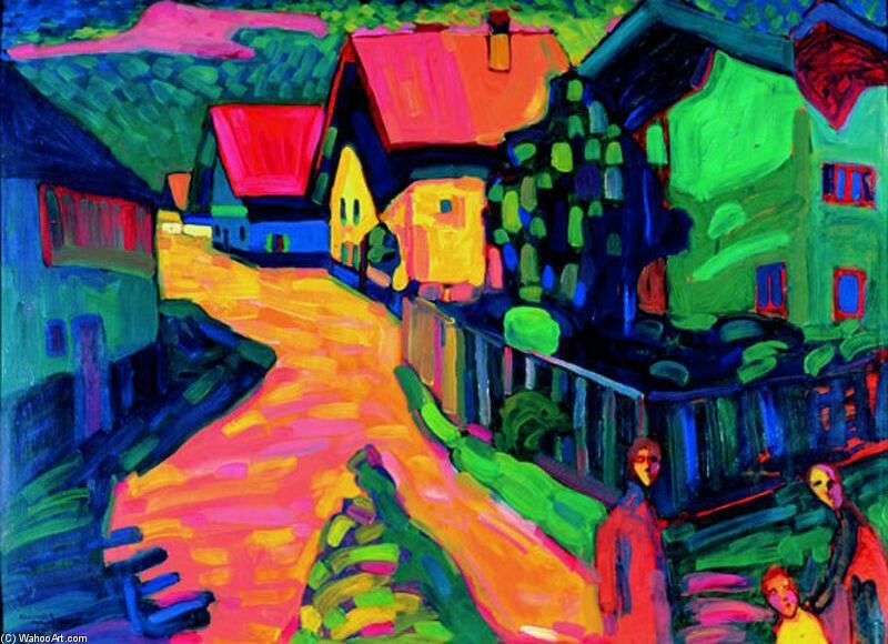 Murnau, calle del pueblo, 1908