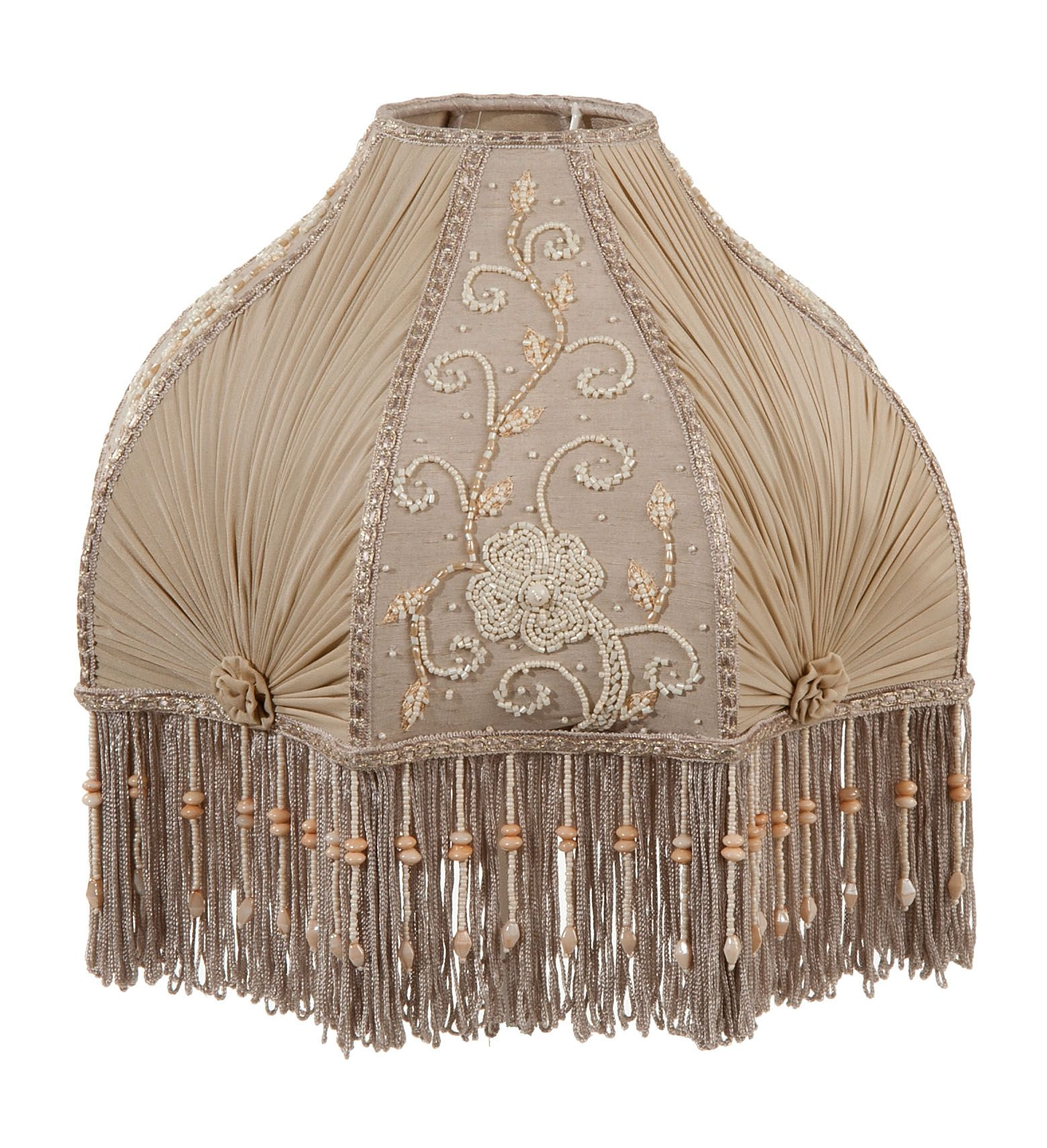 Charming Ideas Better Homes And Gardens Lamp Shades. Victorian Antique Buff Pleated Chiffon and Embroidered Panels Lamp Shade  Supply