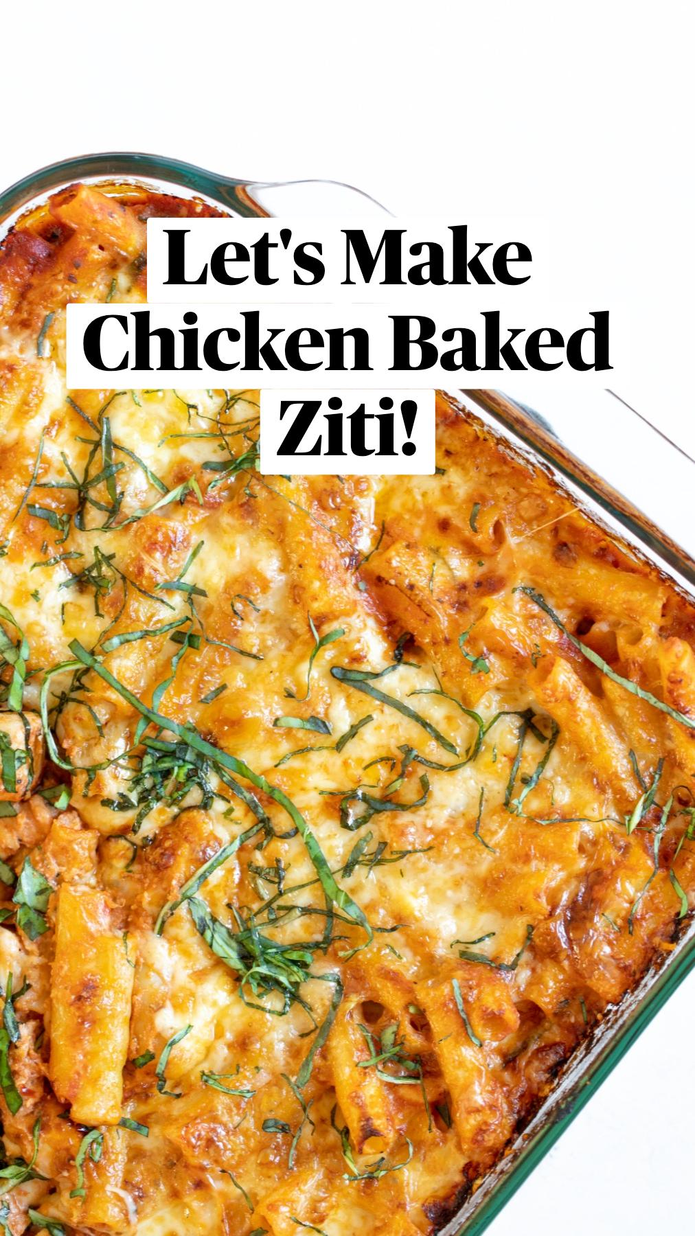 Chicken Baked Ziti (VIDEO)