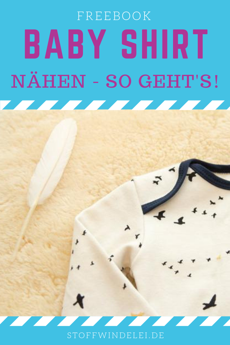 Photo of free sewing pattern and sewing instructions for a baby shirt 50 / 56-62 / 68-74 / 80-76 / 92   Stoffwindelei.de