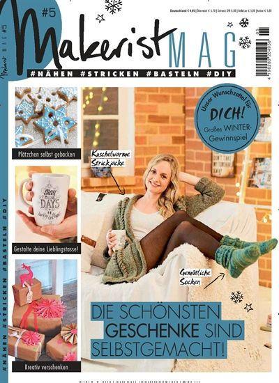 die sch nsten geschenke sind selbstgemacht gefunden in makerist mag nr 5 2016 diy magazine. Black Bedroom Furniture Sets. Home Design Ideas