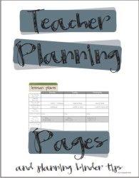 2020-2021 Teacher Planning Calendar Template