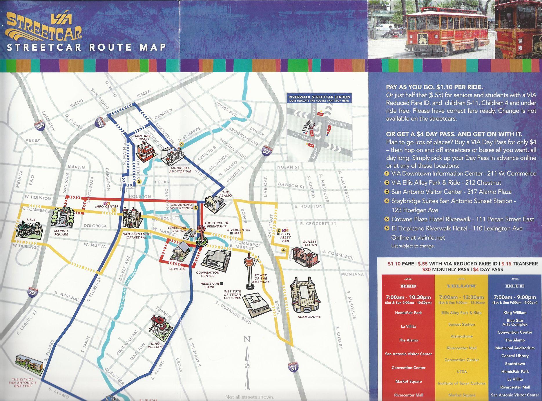 Streetcar map San Antonio Pinterest San antonio