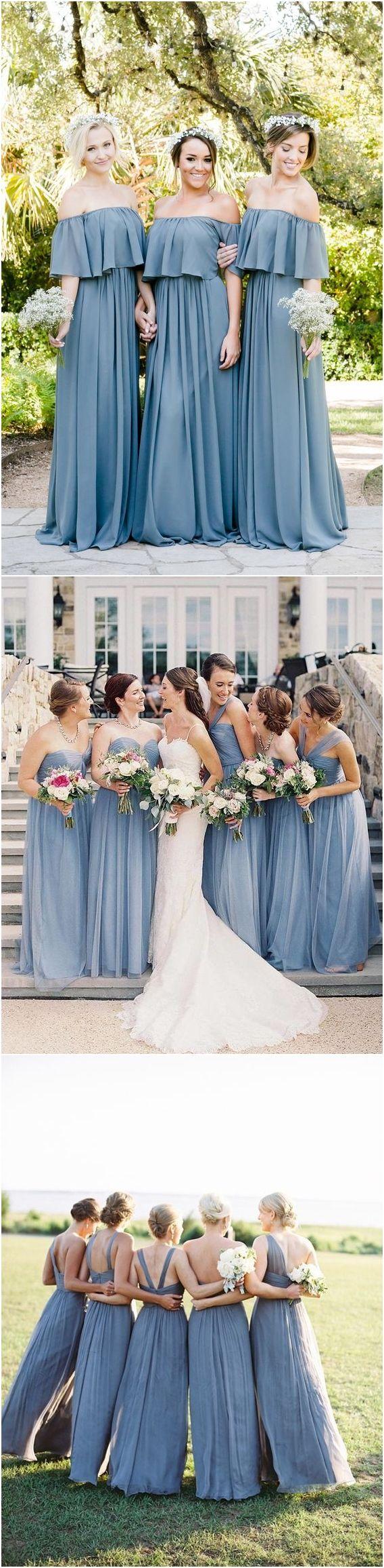 Top bridesmaid dress trends for blue weddings pinterest