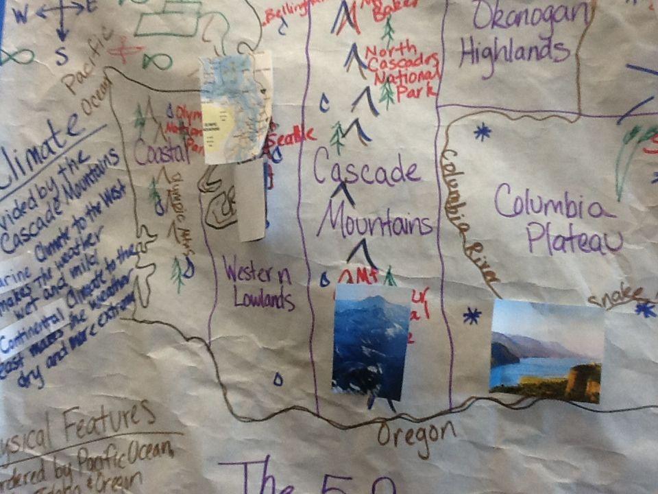 Regions of Washington State  Washington state history, Teaching social studies, Social studies