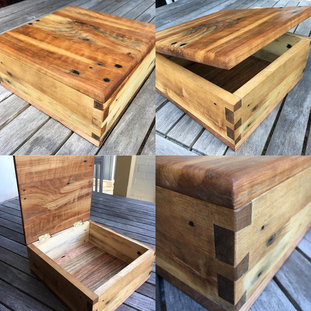 Mr Rhubarb has been a busy bee today. He made this box ...