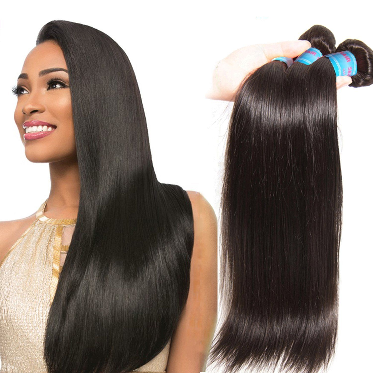 Donmily Top Quality Brazilian Silky Straight Hair Extension 3pcslot