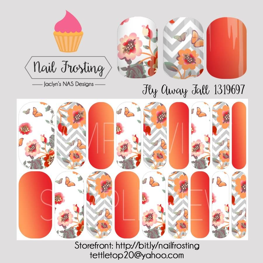 Fly Away Fall nail wraps from Nail Frosting by Jaclyn\'s NAS Designs ...