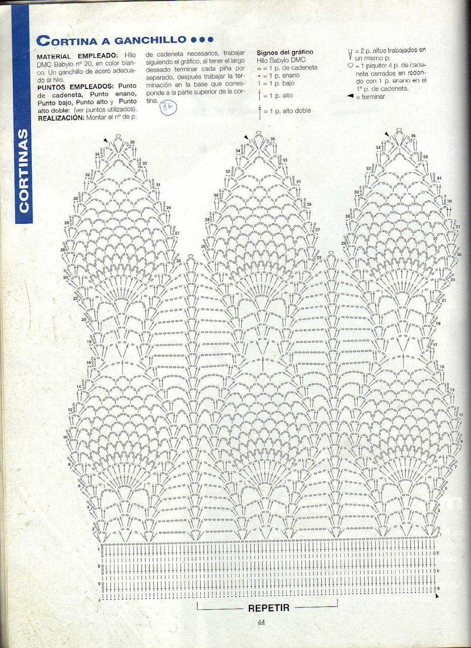 Вязанные занавески | crochet | Pinterest | Crochet Curtains, Crochet ...