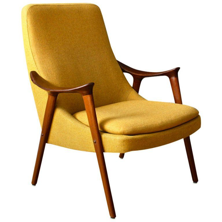 Vintage MidCentury Lounge Chair by Ingmar Relling for Westnofa