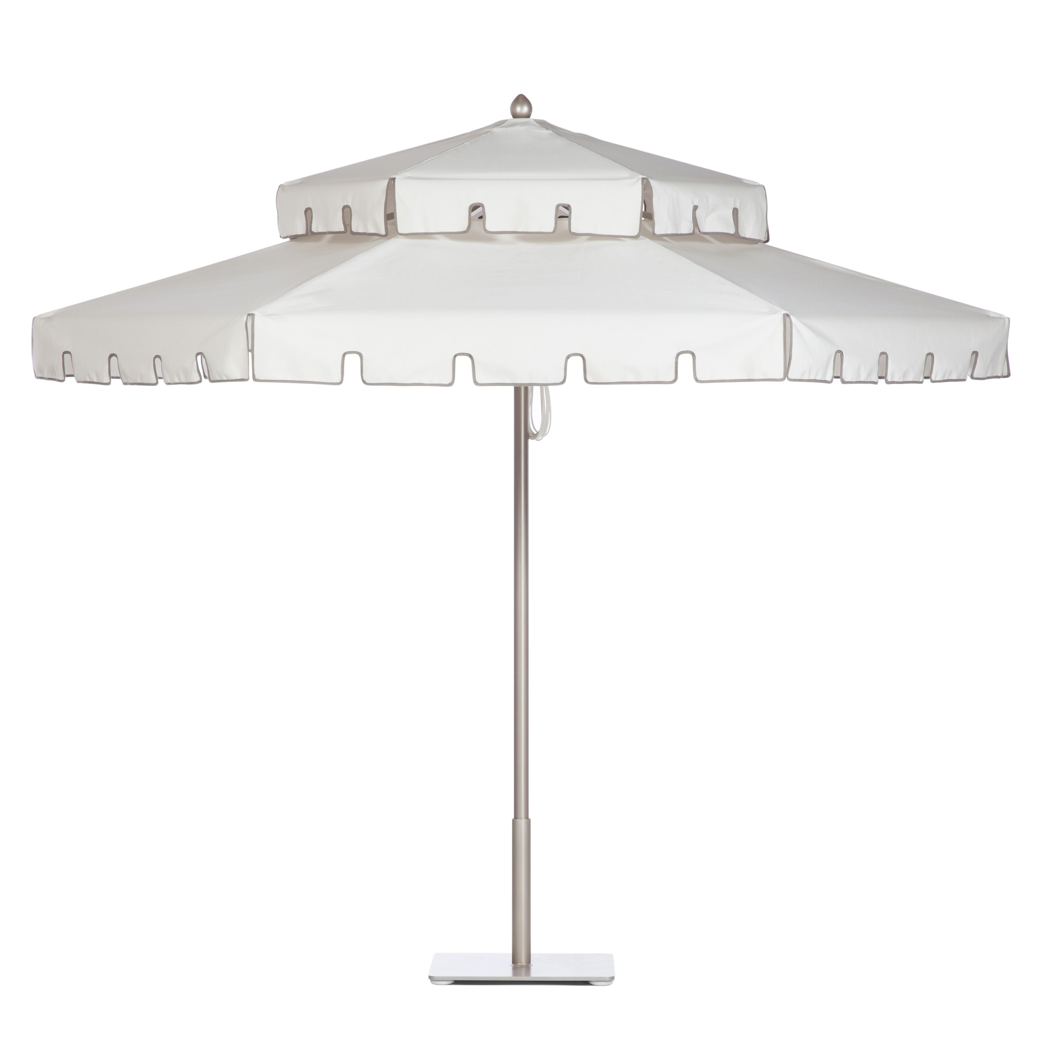 Double Decker Umbrella With Sandstone Frame In Oyster Keyhole