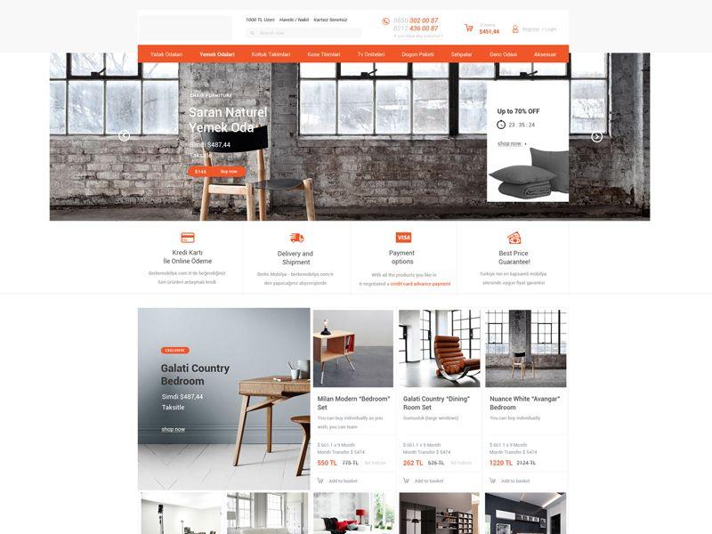 Furniture Ecommerce Web Design For Sale