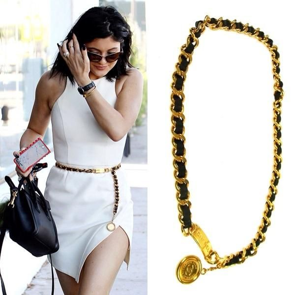 7e6aa65f8d671f Chanel Vintage Medallion CC Belt gold-tone &Leather | love it ...