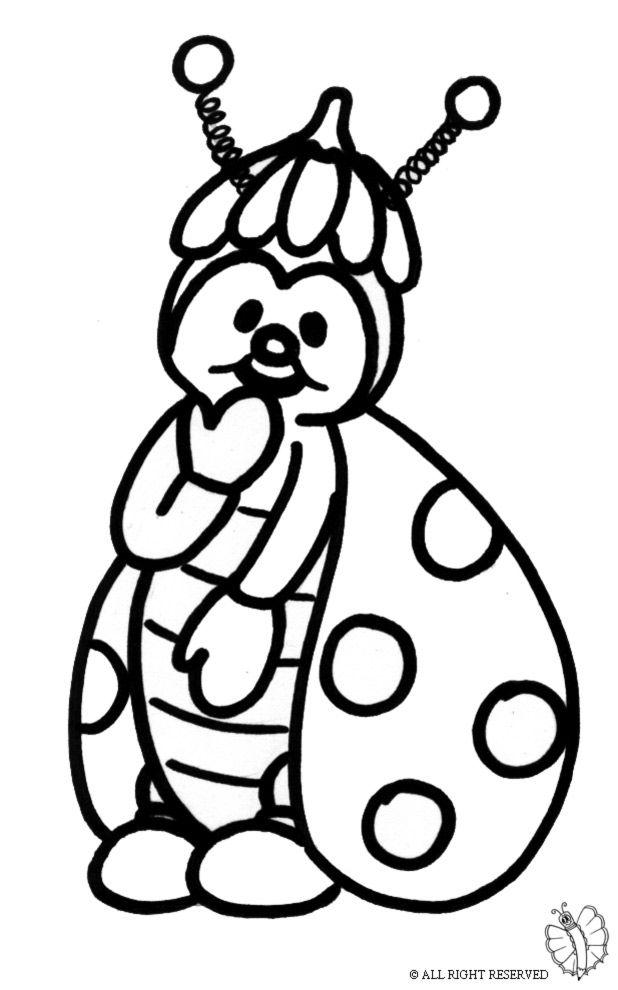 Disegno Di Coccinella Da Colorare Per Bambini Gratis